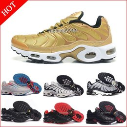 Wholesale Tn Trainers - 2018 Cheap Hight Quality Brand New Mens Air TN Running Shoes Black White Men Athletic jogging Tennis Sports Shoes Grey Man Trainers Sneakers