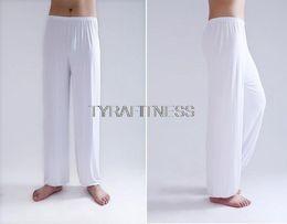 Wholesale Men Tai Chi Pants - Yoga Pants Fitness Clothing Gym Exercise Wushu Tai Chi Kungfu For Women & Men Sports Pants White Blue Clothes