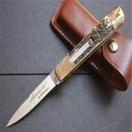 cuchillos de asta Rebajas Recomiendo encarecidamente 8 pulgadas de asta de cuchillo de acampada Recolección de cuchillos de caza cuchillos copias 1pcs freeshipping