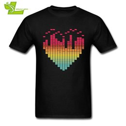 Wholesale Beat Man - My Beat-ing Heart DJ Music Beat Equalizer T Shirt Adult New Tshirt Leisure Custom Made T-Shirts Man O Neck Graphic Dad Clothing
