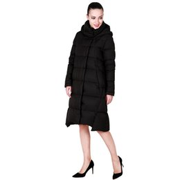 Wholesale Korean Winter Coats For Women - Women's Winter Down Coats & Parkas 2016 Korean Hooded Warm Ladies PU Stitching Loose Long Down Parka Jacket For Women YH355