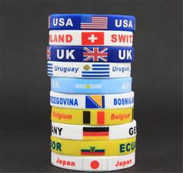 Rusya Dünya Kupası Bayrakları Silikon Bilezik El Yüzük bilek kayışı Dünya Kupası Bayrakları ülkeler bayrağı Bilezik Futbol Bayrak nereden