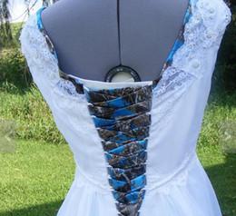 cravatte Sconti NUOVO ARRIVO 2019 CAMO CORSET TIES Custom Made 144 pollici lungo Accessori da sposa Lace-up country wedding