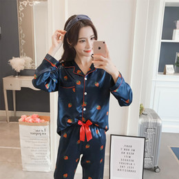 508e96f778 2018 Sale WAVMIT Long Sleeve Silk Pajamas Set Two Pieces Set Women Sleepwear  Sexy Nightwear for Women Sleepwear Long Pant sexy long pant pajamas set for  ...