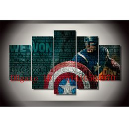 Wholesale Captain Painting - The Avengers Captain America -1,5 Pieces Canvas Prints Wall Art Oil Painting Home Decor  (Unframed Framed)
