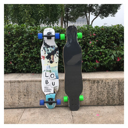 Lunghe ruote di bordo online-Skateboard acero Long Board Dancing Skateboard Double Rocker 4 Ruote a quattro ruote Ragazzi e ragazze All -Around per bambini adulti