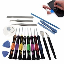 Wholesale Tools For Smartphone Repair - 19 in 1 Opening Pry Tools Disassembly phone Repair Kit Versatile Screwdriver Set For iPhone 4 5 6 HTC Samsung Nokia smartphone