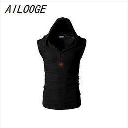 Wholesale White Motorcycle Vest - AILOOGE Mens Hooded Tactical Vest Sleeveless Jacket For 2017 Man Waistcoat Tactical Motorcycle Brand Vests Winter Male Coat