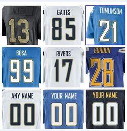 2019 Los Angeles Joey Bosa Philip Rivers Melvin Gordon Chargers jersey  Albert Havili salute to service american football jerseys factory 5xl f87341507