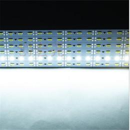 2019 aluminium-kühler 5630 SMD 72leds / m Kühles weißes warmes weißes hartes geführtes Band mit Lichternachtmarktschmucksachekostenschaufensteraluminiumblattlampe DC12V günstig aluminium-kühler