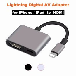 cavi hdmi digitali hdmi Sconti Nuovo adattatore per cavo digitale per TV AV HDMI / HDTV 2018 Lighting per iPhone XS MAX 8/7