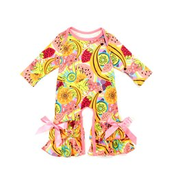 f1bb5e23dc9d Hot Autumn Baby Rompers 0-3T Girls Floral Printing Jumpsuit Long Sleeve Baby  Warm Onesies 29+ Designs Milk Silk Baby Spring Fall Outfits