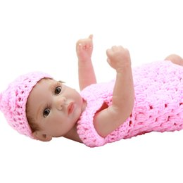 Wholesale Peanuts Baby - Handmade 11 Inch Reborn Doll Baby Boneca Full Silicone Vinyl Newborn Realistic Babies Little Peanut Princess Girls Kids Playmate