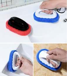 Fibre PP Magic Eponge Gomme Bath Tiles Brush Wash Pot Brosse Propre Accessoires De Salle Bain Cuisine Nettoyage Pp Pas Cher