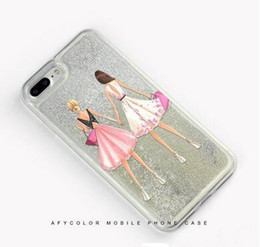 Wholesale Iphone Cases Pearls - 7plus luxury pearl mobile phone shell 6s silver sand soft shell multicolor optional factory outlet