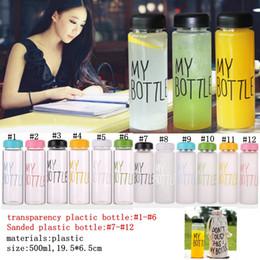 Sacs corée design en Ligne-lettre eau bouteille style coréen nouveau design aujourd'hui sports en plastique bouteilles d'eau boissons drinkware avec sac au détail paquet mma683