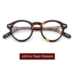 Lunettes Optiques Cadre Hommes Femmes Johnny Depp Lunettes Moscot Acétate  Lunettes Cadre Vintage Marque Design avec boîte Top qualité Q315 lunettes  johnny ... 451b88018263