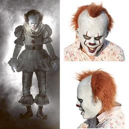 Korkunç Cadılar Bayramı pennywise maske Kostüm Stephen King BU 2 Korkunç Palyaço Maskesi erkek Cosplay Prop Çocuk Oyuncak Hile veya tedavi hediye Y1891202 nereden