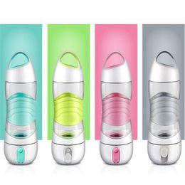2019 porte bidon carbone vert La lumière LED de la bouteille d'eau intelligente suit la prise d'eau pour vous rappeler de rester Veilleuses Veilleuse sportive tasse Sos Tasse Bouilloire WX9-232