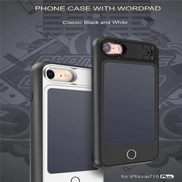 2019 graffiare il telefono Custodia per cellulare con Wordpad Compatibile iPhone 6/7/8/6 Plus / 7 Plus / 8 Plus, Copertura per paraurti antiurto, antigraffio (5.5