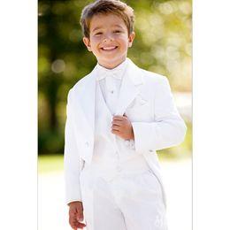 814b1a1e4e7 White Tailcoat Boys Suits for Wedding Prom Boys Formal Suit Costume for Boy  Kids Children s Blazer 3 Pieces (Jacket+Pants+Vest)