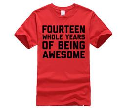 14 ° compleanno camicia regalo età 14 quattordici anni ragazzo ragazza da