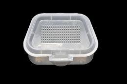 caixa de isca de verme Desconto Alta Qualidade De Pesca De Plástico Respirável Caixa De Armazenamento De Isca Viva Minhocas Worms Bait Container Box c1005