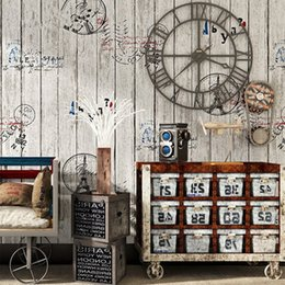 Vinilo Retro Photo Wallpaper Rolls Tablero de madera 3D Cafe Tienda de ropa Papel tapiz de escritorio Decoración Nostálgico Wall Wall Wall Covering desde fabricantes