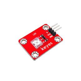 tension de la carte sd Promotion keyes Pirhana LED Module de lumière rouge / vert / bleu / jaune / blanc pour Arduino / framboise pi