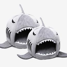 Neuheit Weiches Hundebett Nettes Haifisch Maus Form Hundehaustier Schlafenbett  Mit Entfernbarem Kissen Design Bequemem Handgefühl Hai Hundebetten Angebote