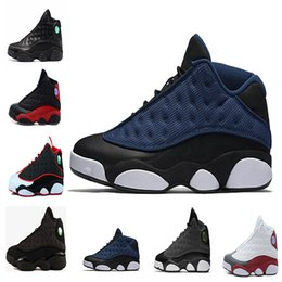 Wholesale Easter Door - 2018 New arrival Air Retro 13 Flight red Barons white GS Hyper Pink Men Basketball Out Door Sports Sneakers with size eur 40-47