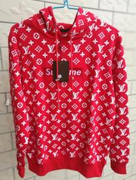 Wholesale hoodie men sale - Hot sale brand men's women's box logo hoodie casual brown red sweatshirt street sweater Men Women hoodie