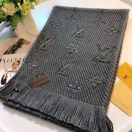 2019 sciarpa a righe bianche blu Moda bella calda e confortevole donna autunno e inverno sciarpa di lana senza costi di trasporto senza scatola