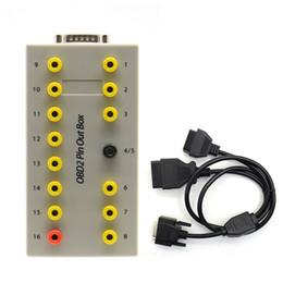 gm 46 chip Rebajas OBD2 OBDII Pin Out Box Breakout Tester Conector Auto Cable de Diagnóstico Del Coche Envío Gratis