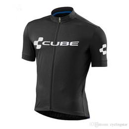 Fahrrad-shorts würfel online-Cube 2018 Radtrikot Sommer Racing Tops Radsportbekleidung Ropa Ciclismo Quick Dry Kurzarm-Shirt mtb Bike Jersey A2501