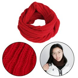 Wholesale Cowl Neck Men - 10 Colors Fashion Women Men Winter Warm Infinity Circle Cable Soft Knitting Wool Knit Cowl Collar Winter Warm Neck Scarf Shawl