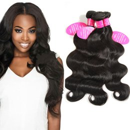Wholesale hair extension sewing - 8A Unprocessed Human Hair Brazilian Body Wave Sew In Soft and Thick Virgin Hair Extensions 100g Bella Remy Human Hair Weave Bundles