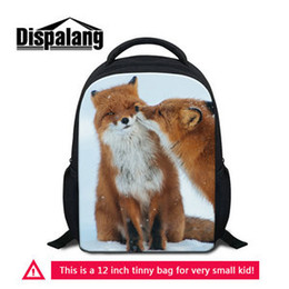 Wholesale Fox Backpacks - Small Cute Over The Shoulder Fox Backpacks For Baby Boys Children Schoolbag Preschool Toddlers Casual Bagpack Masculina