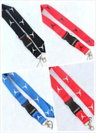 Telefone celular mp3 do colhedor chaveiro on-line-Marca lote 10 pcs J cordão de roupas de lanyard para MP3 / 4 chaveiro chaveiro colhedores de telefone celular / Destacável Chaveiro preto / vermelho / azul cores