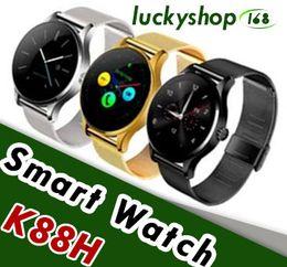 K88H Смарт-часы для iphone X IOS Android Монитор сердечного ритма Часы 1.22-дюймовый IPS с круглым экраном Bluetooth Samsung SmartWatch от