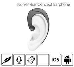 Wholesale universal ear hooks - For iphoneX 8 plus Ear-Hook bluetooth Wireless earphones non-in-ear concept Stereo Black Bluetooth 4.1 Multifunctional Headset With Micphone