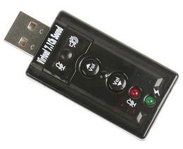 Argentina Alta calidad JP209-B CM108 Mini USB 2.0 3D externo 7.1 canal de sonido Virtual 12Mbps adaptador de tarjeta de sonido de audio Suministro