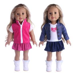Новая одежда платье наряды пижамы для 18 дюймов американская девушка кукла ковбой костюм нашего поколения аксессуары оптом от Поставщики ковбойские платья