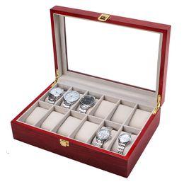 2019 браслет для часов susenstone 2017 watch Box  Wood Case For Bracelet Po Bangle Jewelry Portable Travel 12 Slot Display Present Gift hot sale скидка браслет для часов