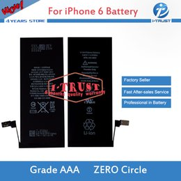 Wholesale Apple Internal - For iphone 6 6s Battery Grade A+++ Quality Internal Built-in Li-ion Replacement Battery For iphone 6 & Free UPS Shipping