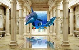 2019 fonds de palais Papier Peint Moderne Palais Colonne Romaine Salon Chambre Papier Peint Murale Canapé Fond TV Papel De Parede 3D promotion fonds de palais