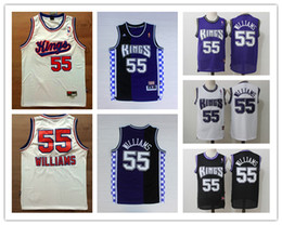 b75de27a7e79 Retro Mens 55 Jason Williams Sacramento Kings Basketball Jerseys Authentic  Stitched Classic White Chocolate Williams Retro Basketball Jersey
