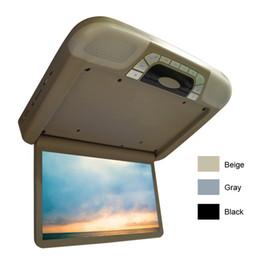 """Slot dvd online-Car Video DC12V Car Bus 14.1 """"Monitor LCD TFT con montaggio sul tetto con lettore DVD integrato Slot SD USB FM 3 colori # 4101"""
