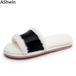 1d393b4fafd AShwin fashion fur slippers lady plush fluffy slipper faux furry slides sandals  women slipper casual thermal warm bath discount ladies plush winter slippers