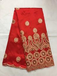 Canada Livraison gratuite design élégant 5 mètres George avec paillettes Tulle dentelle pour la robe de mariée, bon prix nouvelle arrivée Satin Fabric b8-12-1 Offre